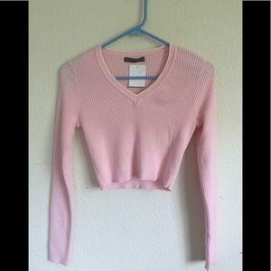 Brandy Melville pastel pink milena sweater
